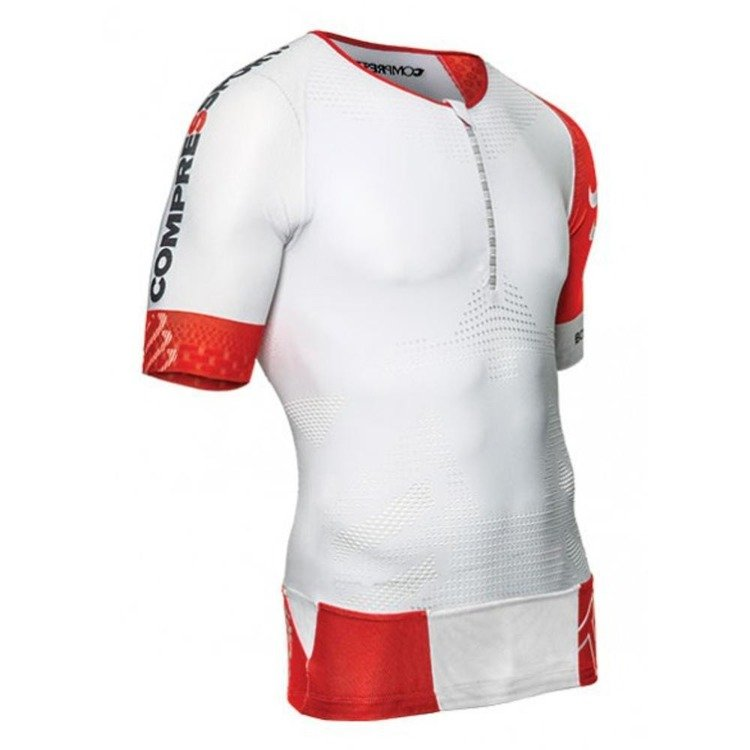 Compressport TR3 Aero Top - Männer-Triathlon (weiß)